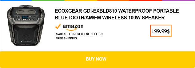 ECOXGEAR GDI-EXBLD810 Waterproof Portable Bluetooth