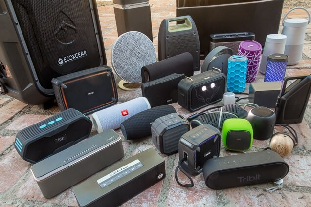 Some of the portable Bluetooth speakers we tested in late 2017. Photo: Brent Butterworth