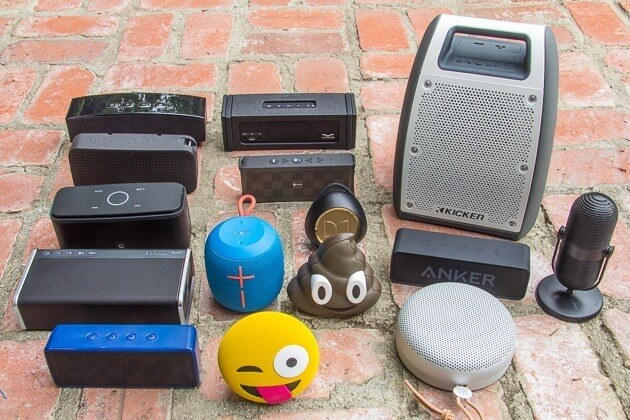 Some of the portable Bluetooth speakers we tested for our spring 2017 update. Photo: Brent Butterworth